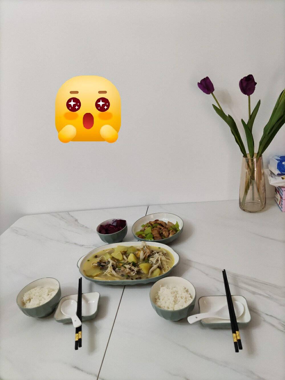 裕行北欧餐具套装抗菌釉33头威尼斯碗碟套装色釉筷子碗盘勺子套装礼盒包装