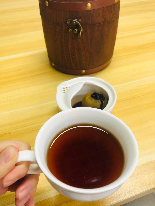 小青柑普洱茶茶叶正宗生晒新会青柑500g云南普洱料熟茶陈皮普洱柑普茶小青桔年货木桶送礼盒装500g/桶