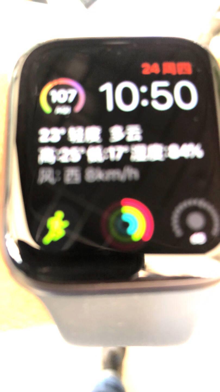 AppleWatchSeries6智能手表GPS款44毫米深空灰色铝金属表壳黑色运动型表带M00H3CH/A
