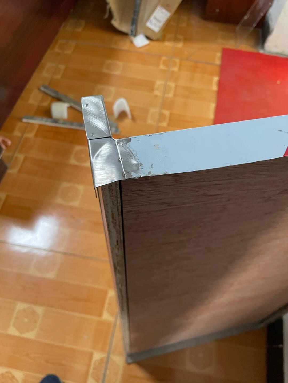 简易橱柜厨房农村家用不锈钢碗柜灶台柜出租房整体厨柜组装经济型定制0.8米两门双抽