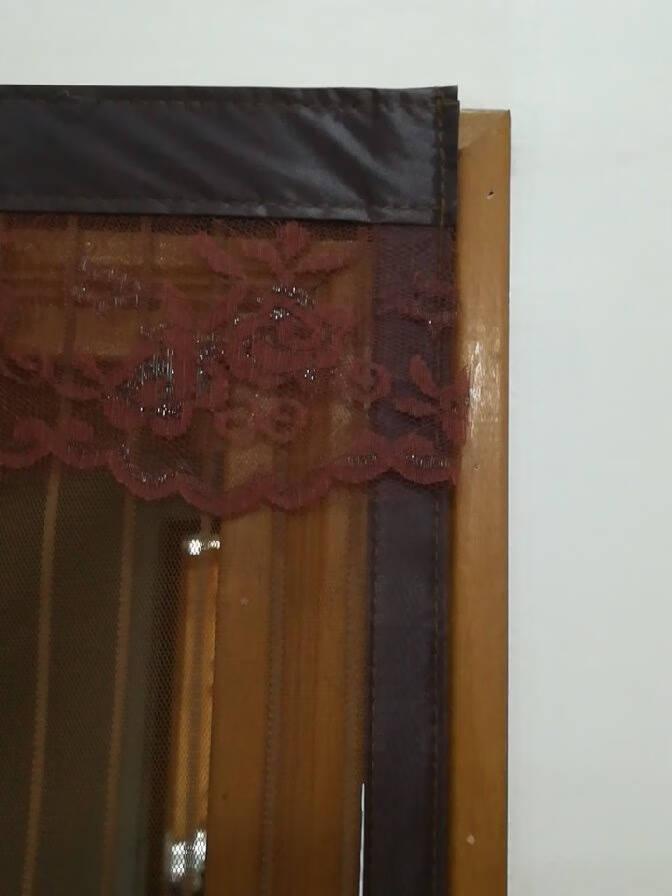 【可定制】思泽诺魔术贴防蚊门帘大门磁性自吸加厚纱门网卧室夏季防蝇虫通风纱窗定做【静音款】经典条纹咖啡+整卷魔术贴【一平米价格/定制尺寸专拍,需联系客服改价】