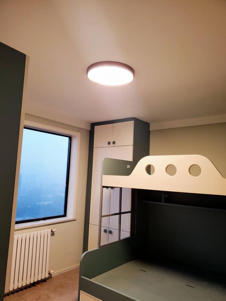 新特丽圆形超薄吸顶灯led客厅灯现代简约调光调色卧室灯具套餐碟玉111123圆形直径45cm34w普通款3000K