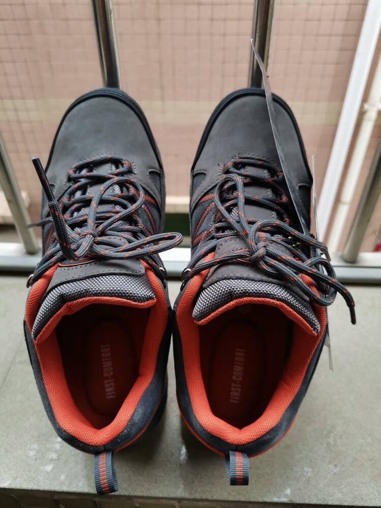 美国TFO登山鞋徒步鞋男女款防水防滑低帮舒适透气户外鞋男款深灰/红橙43