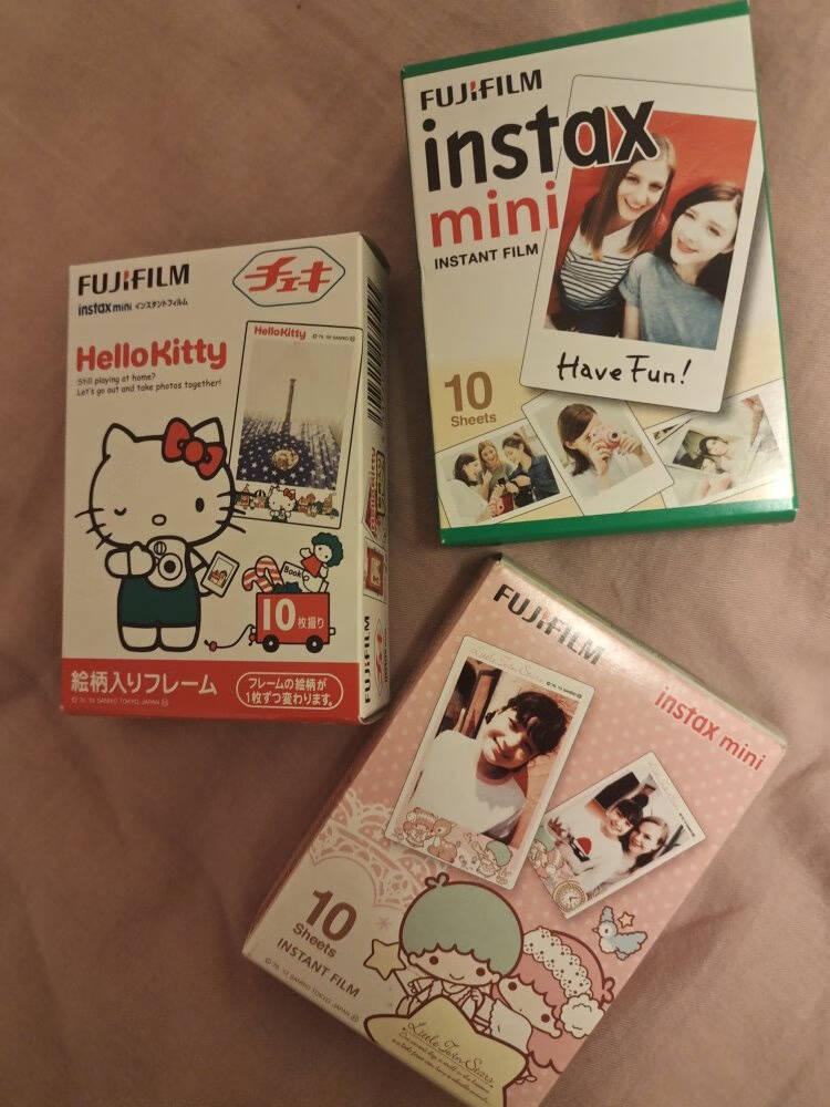 富士拍立得花边相纸胶片用于mini7S/8/9/11/90/7+/40/90/7c等拍立得相机白边相纸(40张)
