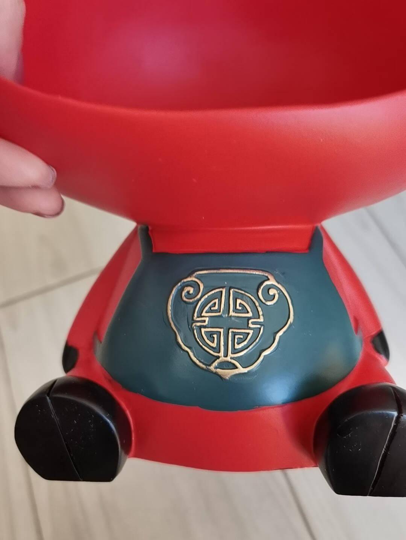 雅尊(Yazun)北欧创意家居客厅玄关钥匙收纳摆件乔迁新居礼品结婚礼物实用生肖牛工艺品红色【18*16*26CM】