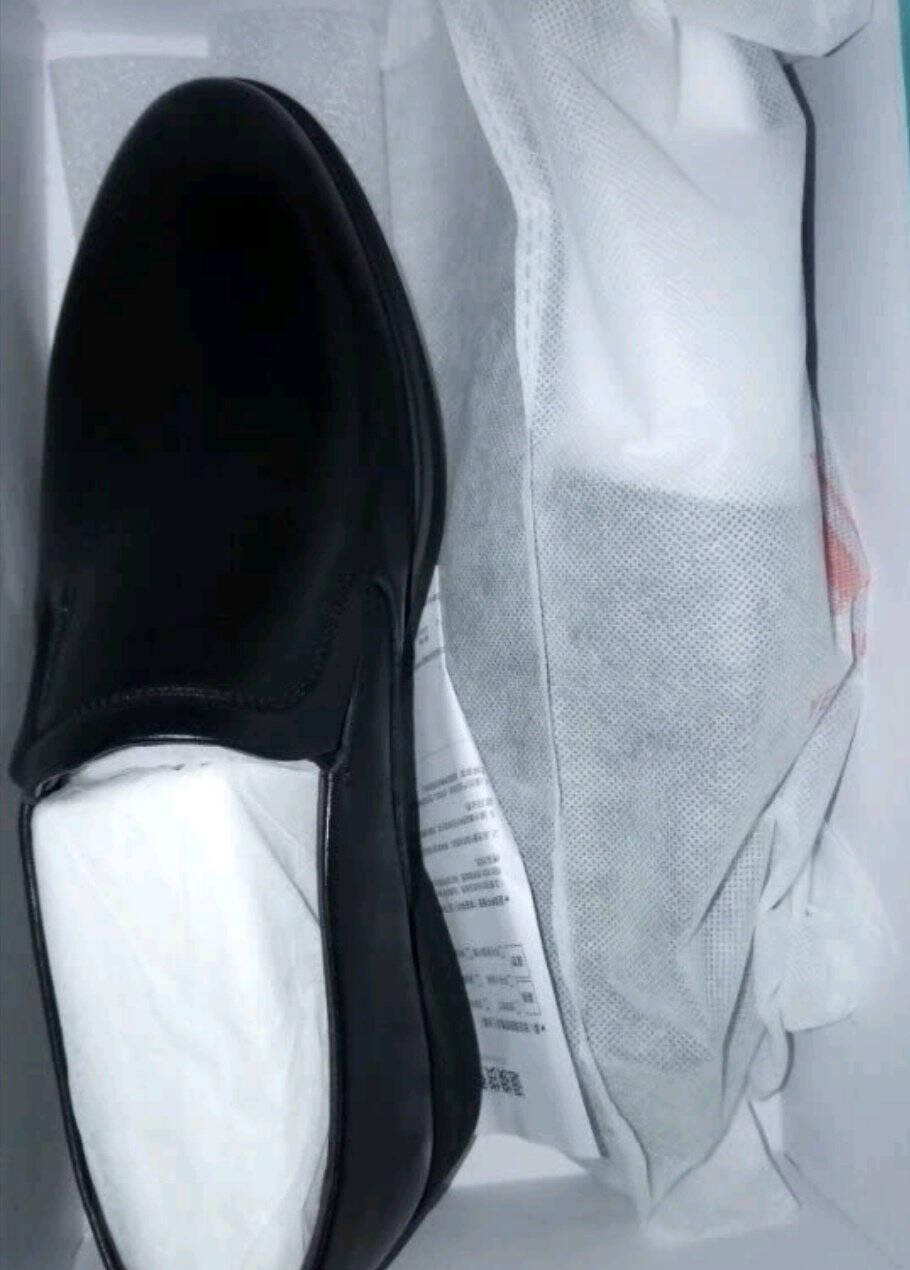 意尔康男鞋舒适套脚正装鞋懒人一脚蹬皮鞋男商务英伦男单鞋Y501ZE97442W黑色39
