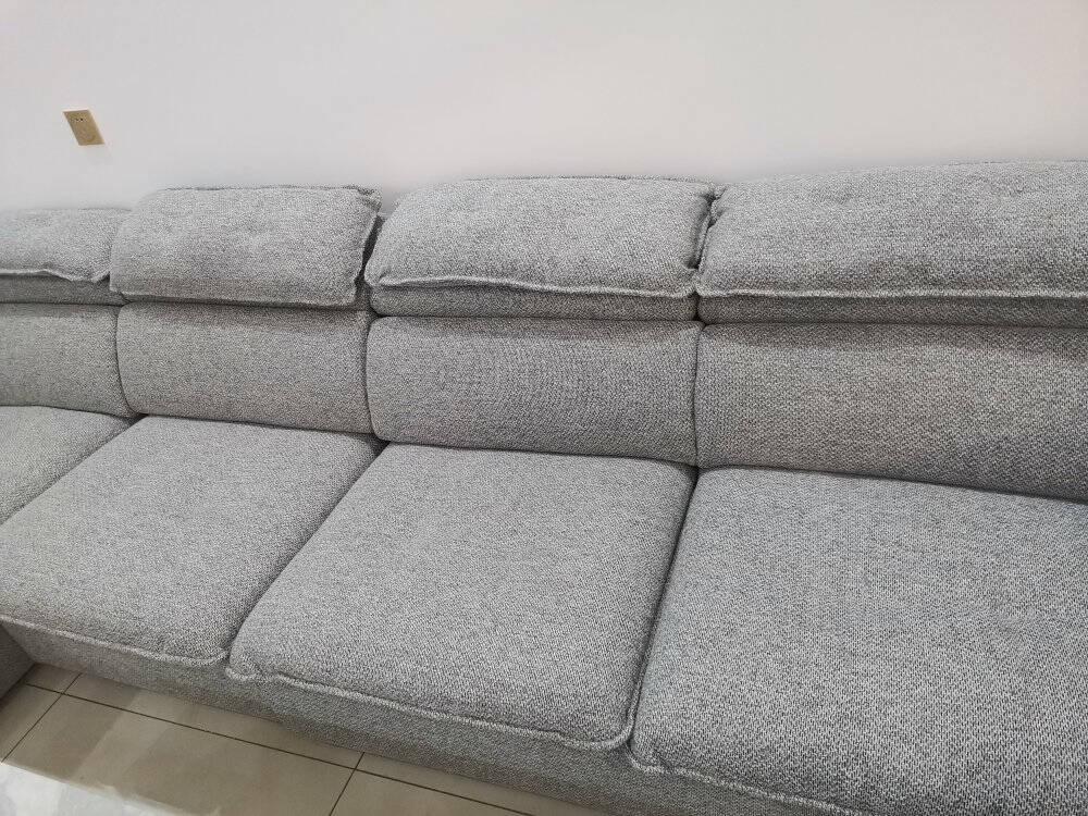 CBD沙发北欧布艺沙发组合现代简约客厅整装沙发可拆洗转角懒人沙发中小户型D029SFD11浅灰3+1+左贵妃