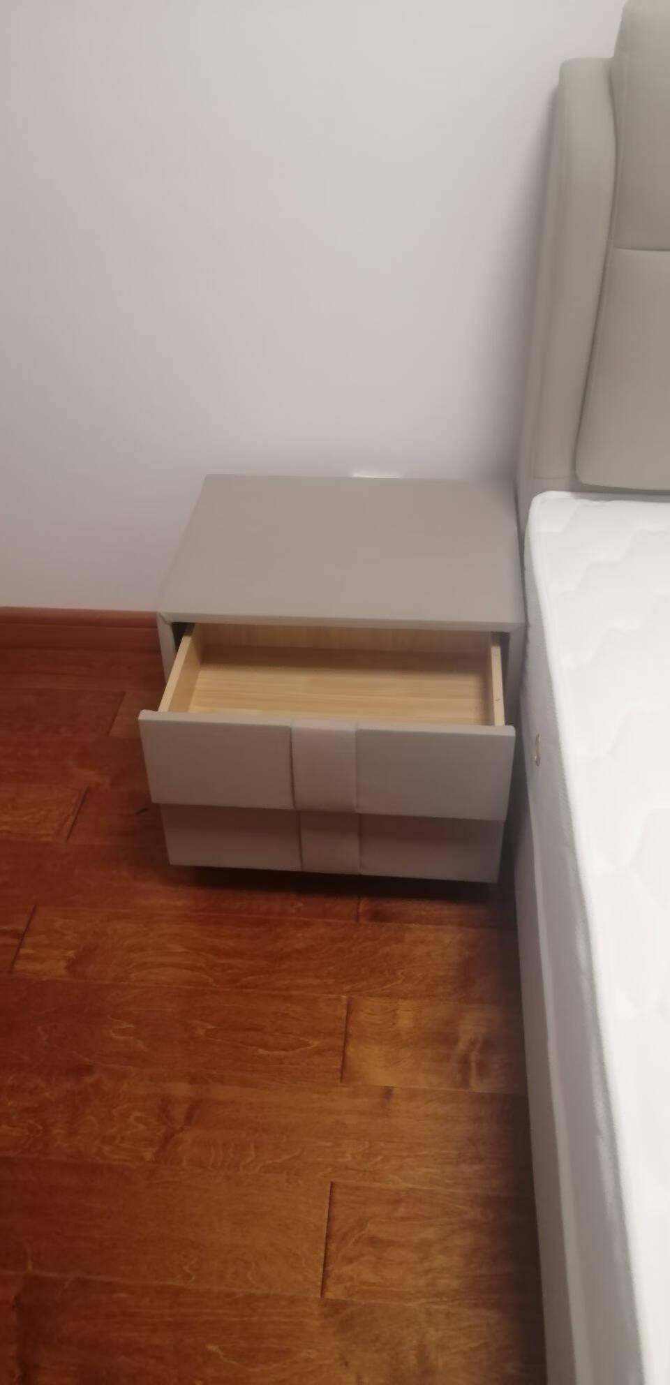 A家意式简约皮床真皮床科技布双人床现代简约1.8米轻奢婚床主卧软床家具DA01611.5架子床米黄(真皮)单床