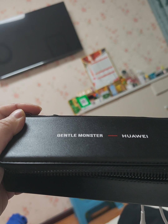【新款二代】华为眼镜XGENTLEMONSTEREyewearII智能蓝牙语音通话降噪镜框墨镜MYMA-01(黑)