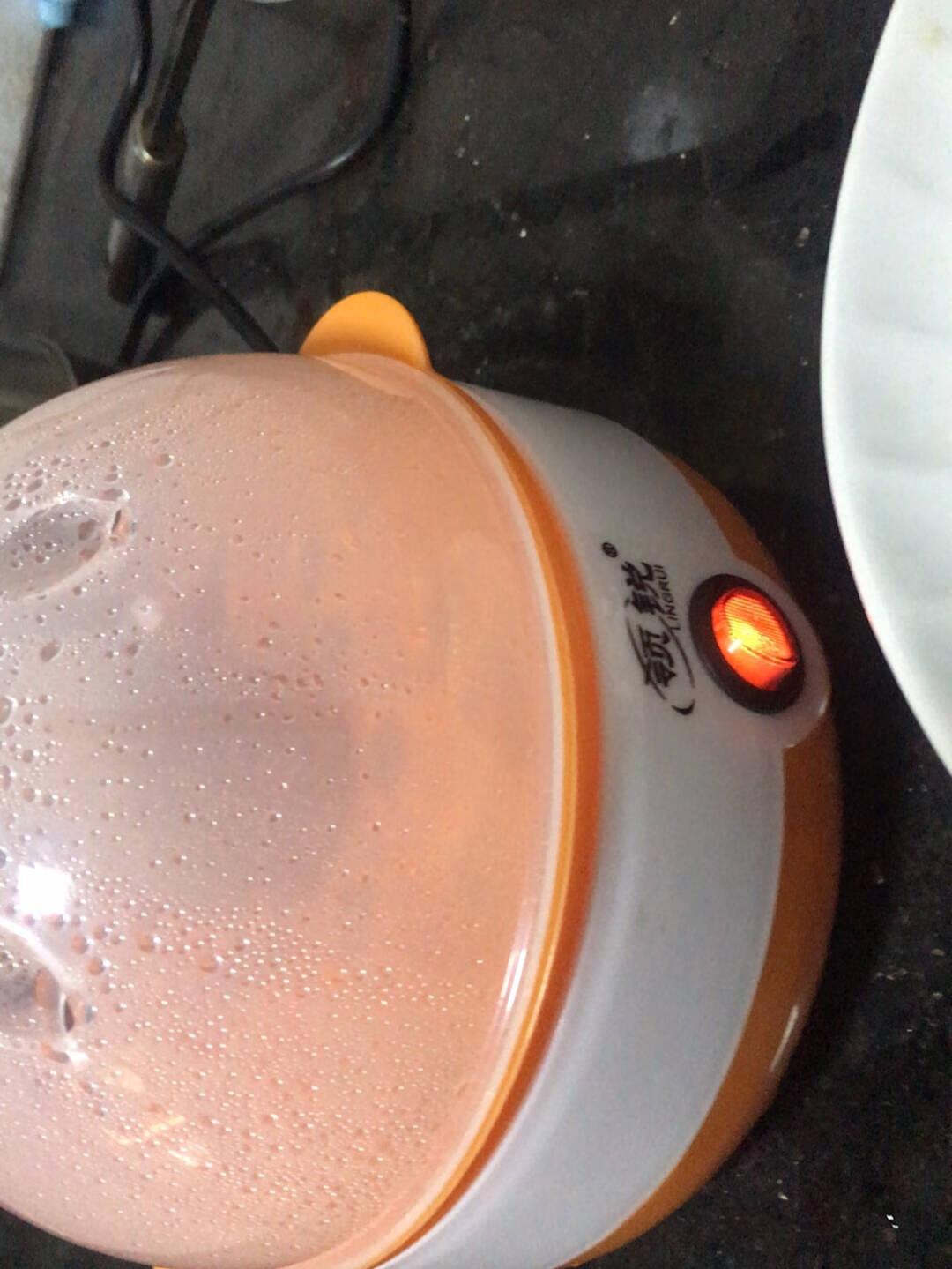 领锐煮蛋器蒸蛋器自动断电迷你家用蒸蛋羹煮鸡蛋器早餐煮蛋机小型神器橙色-单层