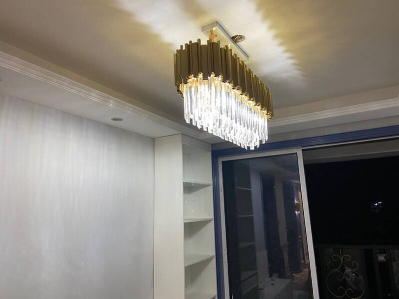 轻奢水晶吊灯客厅灯餐厅灯具套餐后现代欧式简约创意美式别墅大厅卧室吊灯led灯饰套餐K三室二厅