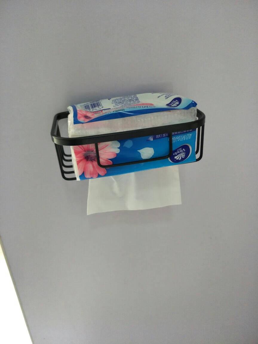 虎先森免打孔卫生间置物架纸巾盒浴室纸巾篓篮厕纸盒卷纸架