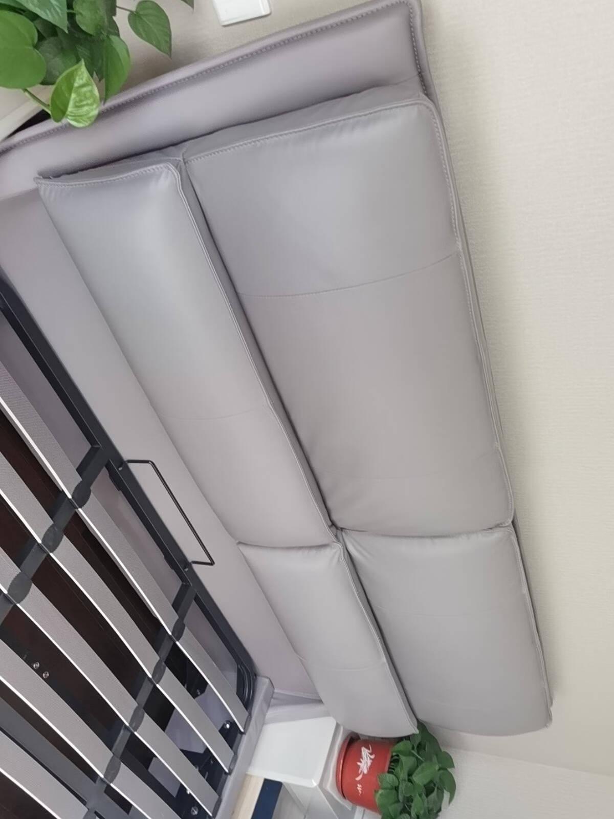 芝华仕·爱蒙床真皮双人床储物软床现代卧室主卧大床1.8米C066冰岛灰1800*200015天内发货