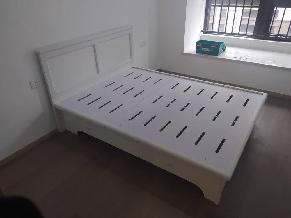 全友家居储物床单人双人床北欧田园1.5米1.8米高箱床大容量卧室储物家具床1258011.5高箱床