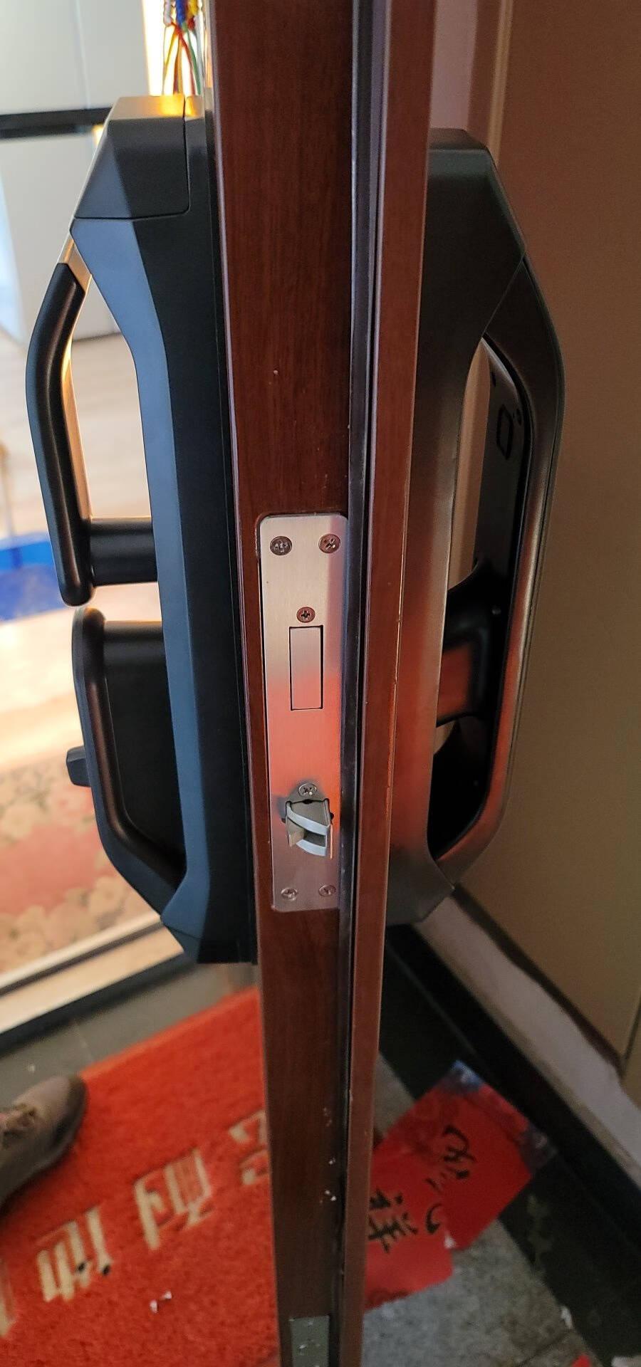 德施曼(DESSMANN)小嘀指纹锁Q3P智能锁小米米家APP联动全自动锁后隐藏式指纹头电子密码锁升级版Q3P咖啡金+全新后把手+电池升级