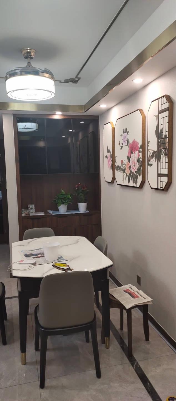 尚锦美舍花开富贵新中式客厅装饰画中国风牡丹茶室书房餐厅三联壁画沙发背景墙挂画八边形(组合1)左右30*60/中间60*60(原木色环保PS框)