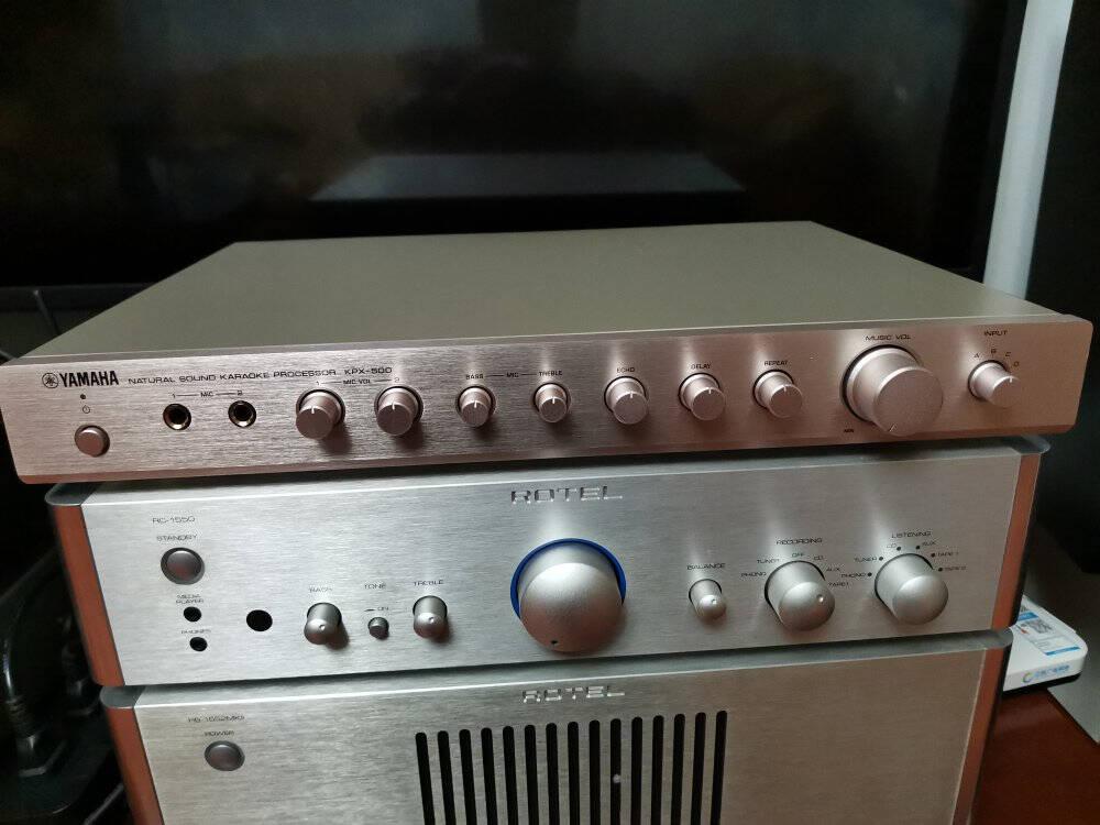 雅马哈(YAMAHA)KPX-500K歌混音器混响器话筒家用卡拉OK前级效果器黑色