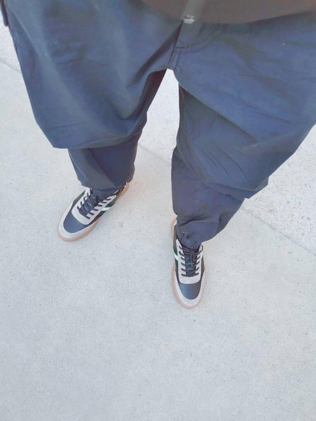 百丽男鞋百搭短筒靴子牛皮休闲撞色板鞋63010DD0白色41