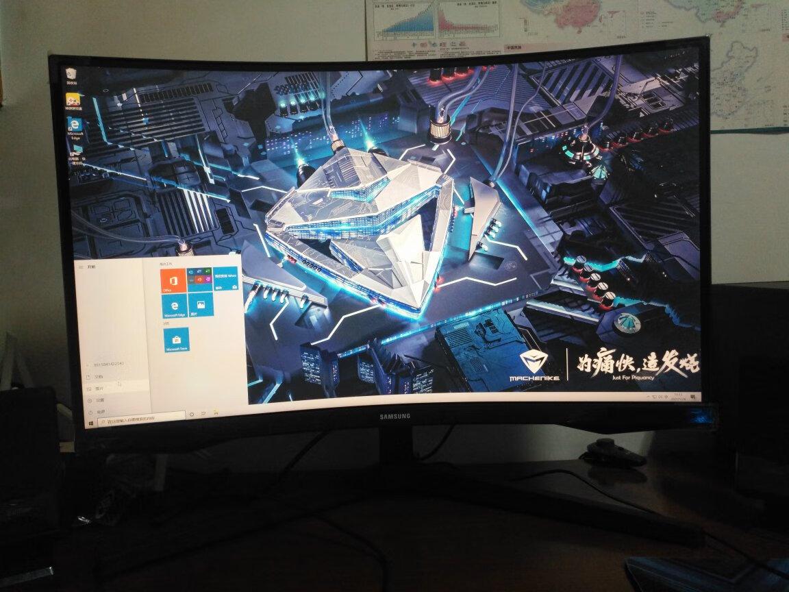 三星玄龙骑士27英寸显示器,1000R超曲面三面微边设计
