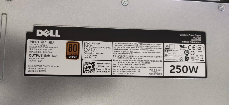 戴尔(DELL)1U机架式服务器主机R240至强E-2224四核3.4G/16G内存/1TB硬盘(企业级)/三年质保