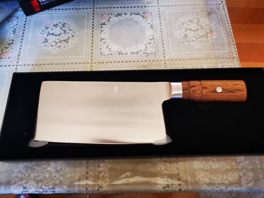 拓(TUOBITUO)黑将67层大马士菜刀厨房刀具切菜刀单刀切片刀切肉刀厨刀厨师刀菜刀家用菜刀锋利耐黑将大菜刀
