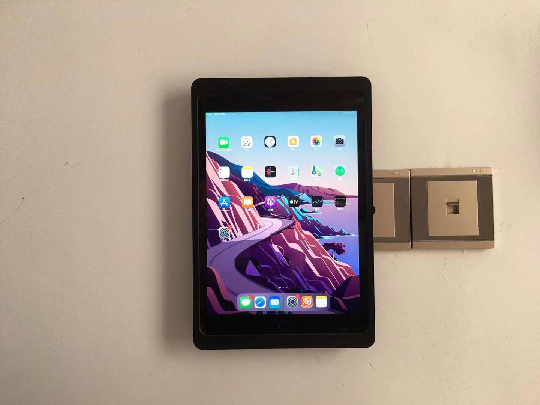 【EMONITA】ipad-10.2英寸保护套铝合金挂墙无线充电器底座支架智能家居中控控制系统终端源10.2英寸黑色