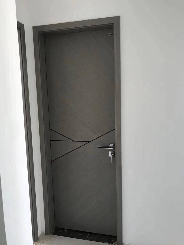尚品本色免漆木门卧室门定制室内门套装门实木复合房间门客厅厨房门书房门生态门9041纯白