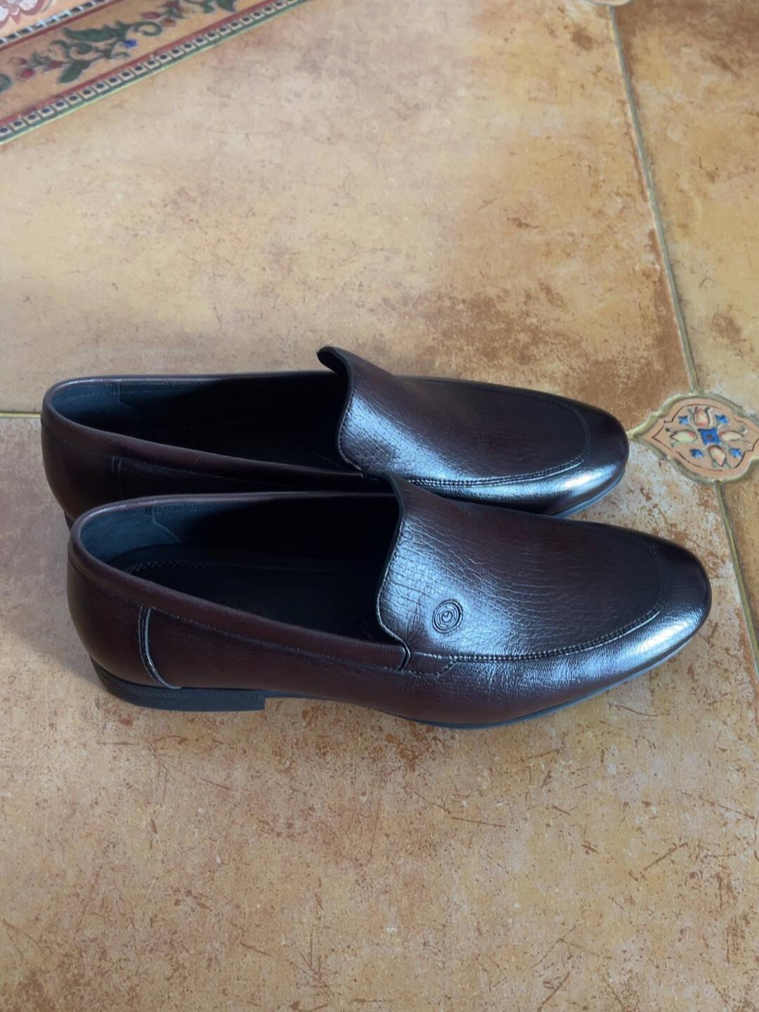 金利来(goldlion)男鞋都市商务皮鞋舒适耐穿商务休闲鞋乐福鞋50211020901A-黑色-41码