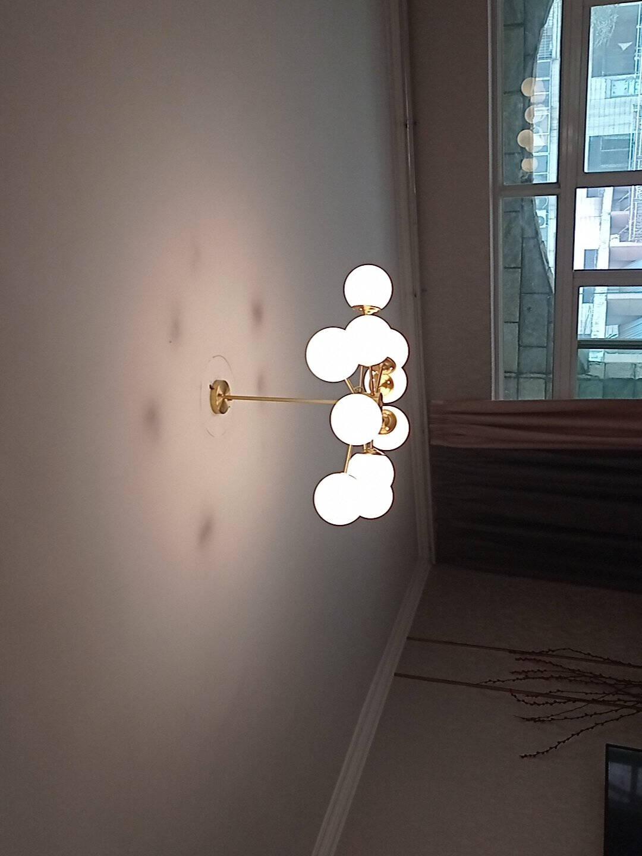 TCL照明全铜吊灯客厅卧室书房餐厅吊灯魔豆分子灯北欧轻奢网红ins风格创意现代简约灯具铜魔豆12头-直径880mm(需自购G9光源)