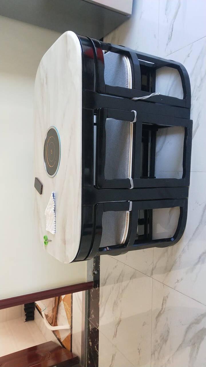 皇颂大理石餐桌家用现代简约小户型长方形创意圆形实木饭桌6人餐桌椅组合现代黑色升级版长方形一桌六椅(加厚材料内部做漆送座垫)