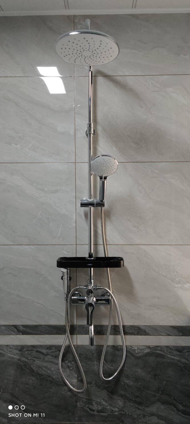 恒洁(HEGII)淋浴花洒套装全铜主体喷枪花洒多功能增压可升降大顶喷除垢花洒HMF916-601B