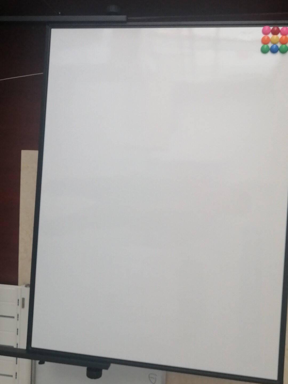 BBNEW90*120cm双面磁性白板支架式可移动升降翻转写字板会议办公家用教学儿童黑板NEWV90120