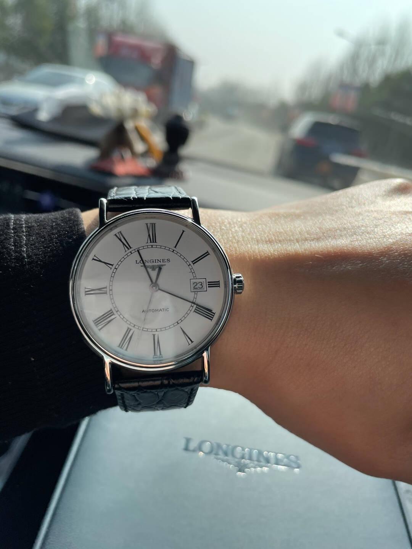 浪琴(Longines)瑞士手表时尚系列机械皮带男表情侣对表L49214112