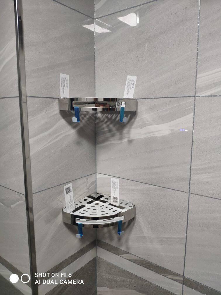 卡贝(Cobbe)不锈钢毛巾架免打孔浴室挂件浴巾架卫生间置物架卫浴五金套装