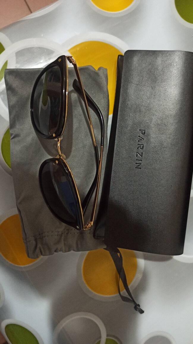帕森(PARZIN)新款时尚复古偏光太阳眼镜女TR90大框司机驾驶镜9868磨砂紫反光膜紫色片