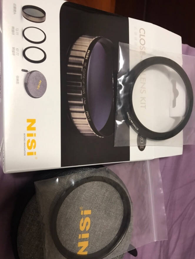 耐司(NiSi)近摄镜微距放大镜52/58/67/72/77/mm专业近拍微拍利器套装77mm近摄微距镜