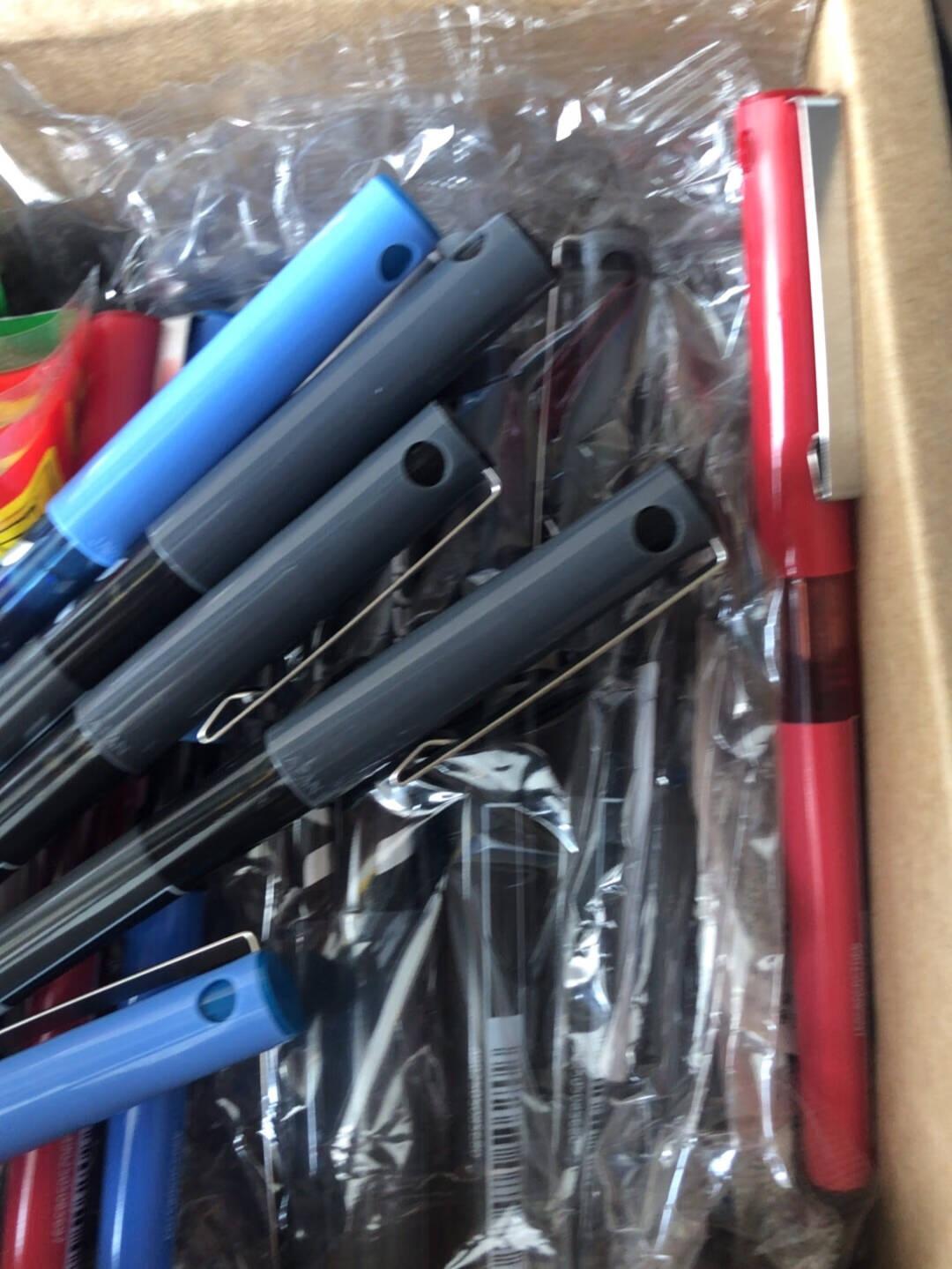 日本百乐(PILOT)BX-V5直液式走珠笔中性笔0.5mm针管水笔签字笔彩色学生考试笔黑色6支装
