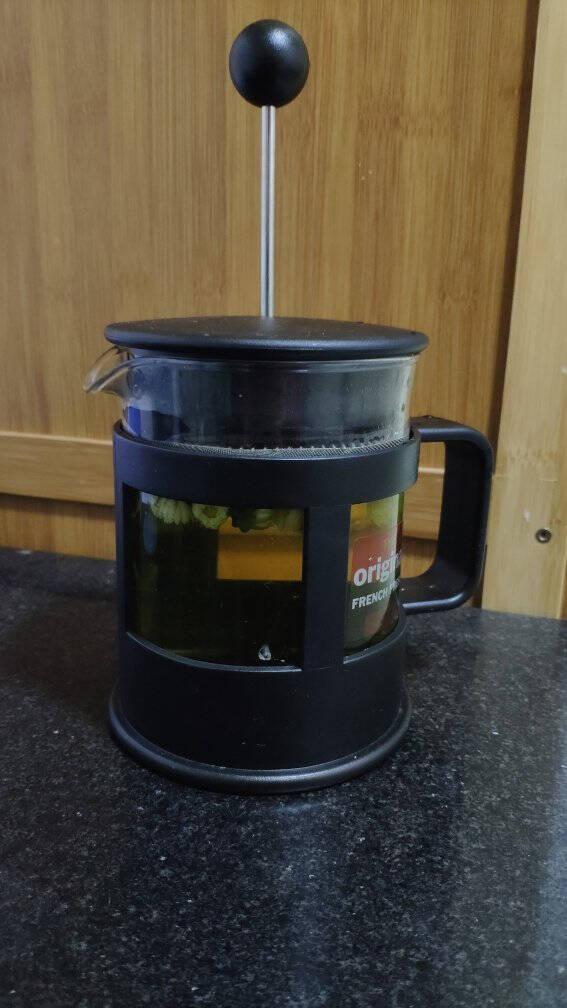 丹麦bodum波顿法压壶欧洲进口玻璃咖啡壶冲茶器家用咖啡器具手动泡茶过滤杯350ml便携手冲茶壶1783-01
