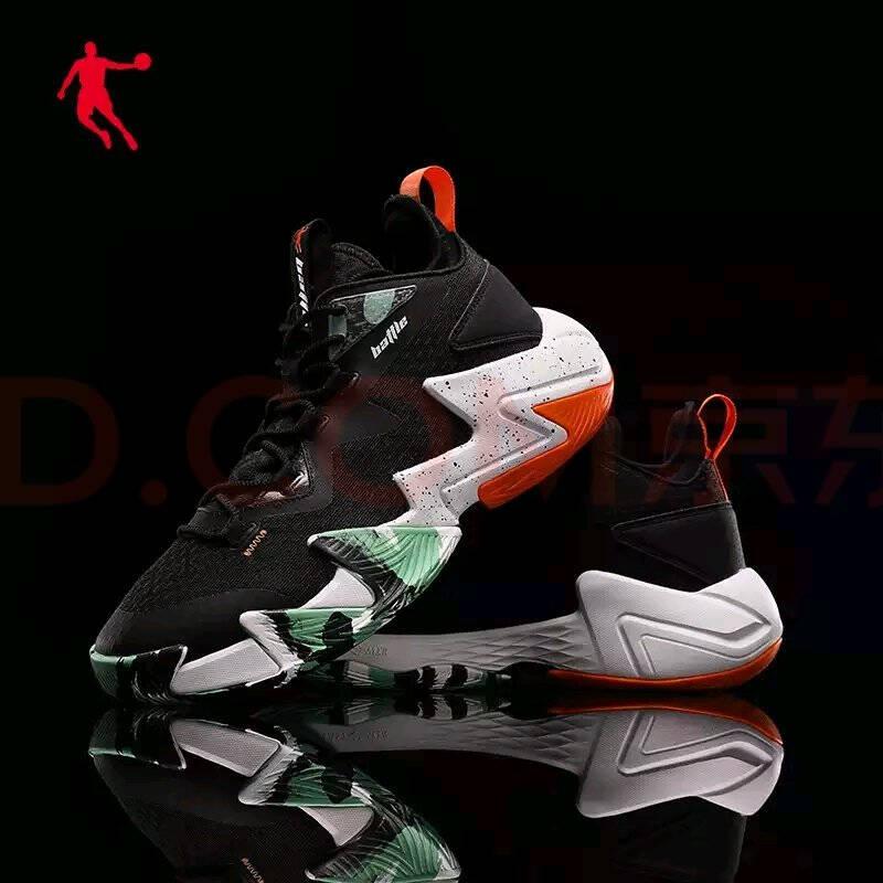 乔丹篮球鞋男破影2代运动鞋2021夏季新款高帮防滑耐磨减震实战篮球鞋男乔丹白/黑色-XM2521010241