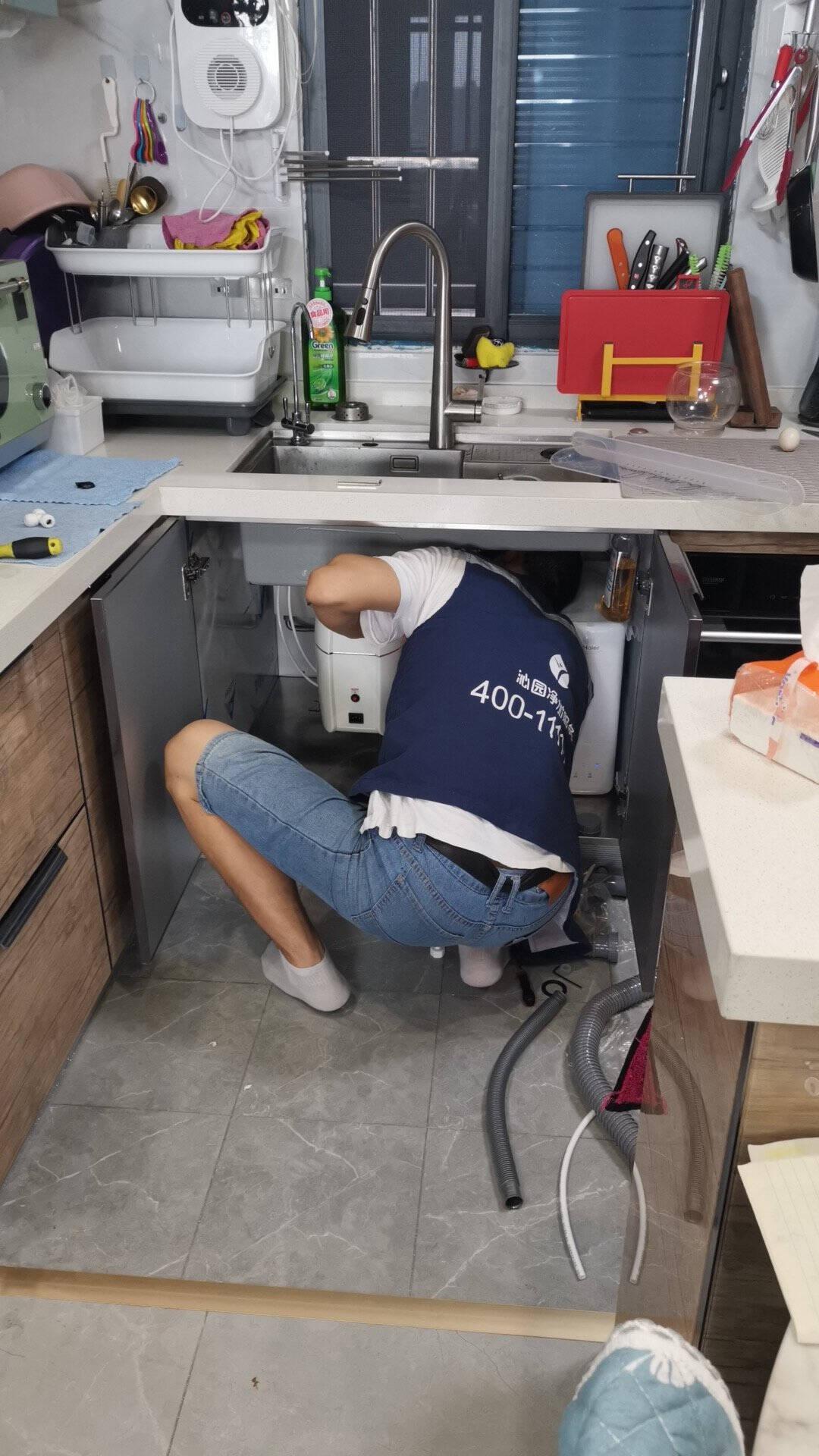 余库厨房垃圾处理器S6厨房食物垃圾粉碎机650w大功率自动进水家用食物垃圾粉碎机S6-白色