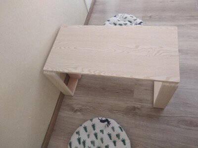 日式茶桌榻榻米炕桌家用卧室坐地窗台矮桌阳台小茶几飘窗桌子暖白色80cm