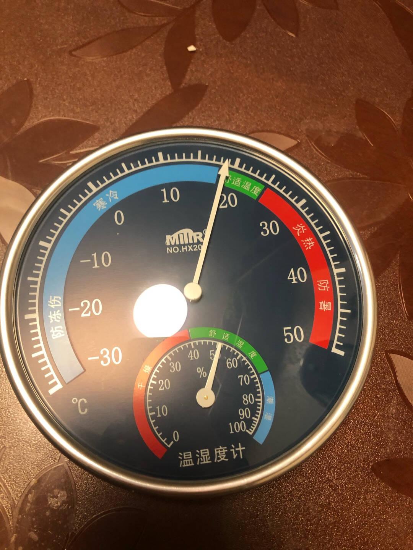 米特尔(MITIR)家用温度计室内干湿温度计高精度湿度计台式挂式大棚温湿度表HX201黑色