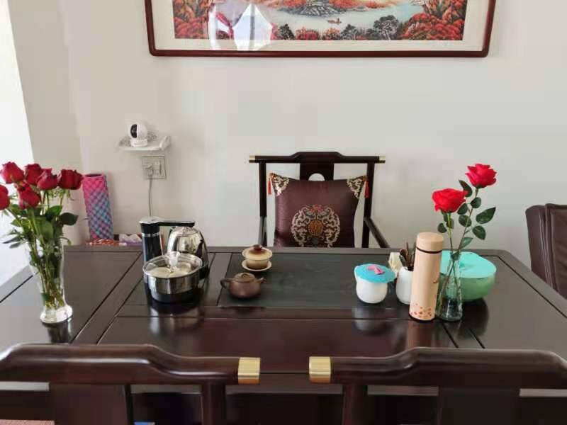 爱惟森新中式现代简约办公室泡茶桌椅组合喝茶茶台功夫茶具套装一体禅意茶台桌客厅书房家具茶台+太师椅+4*椅子