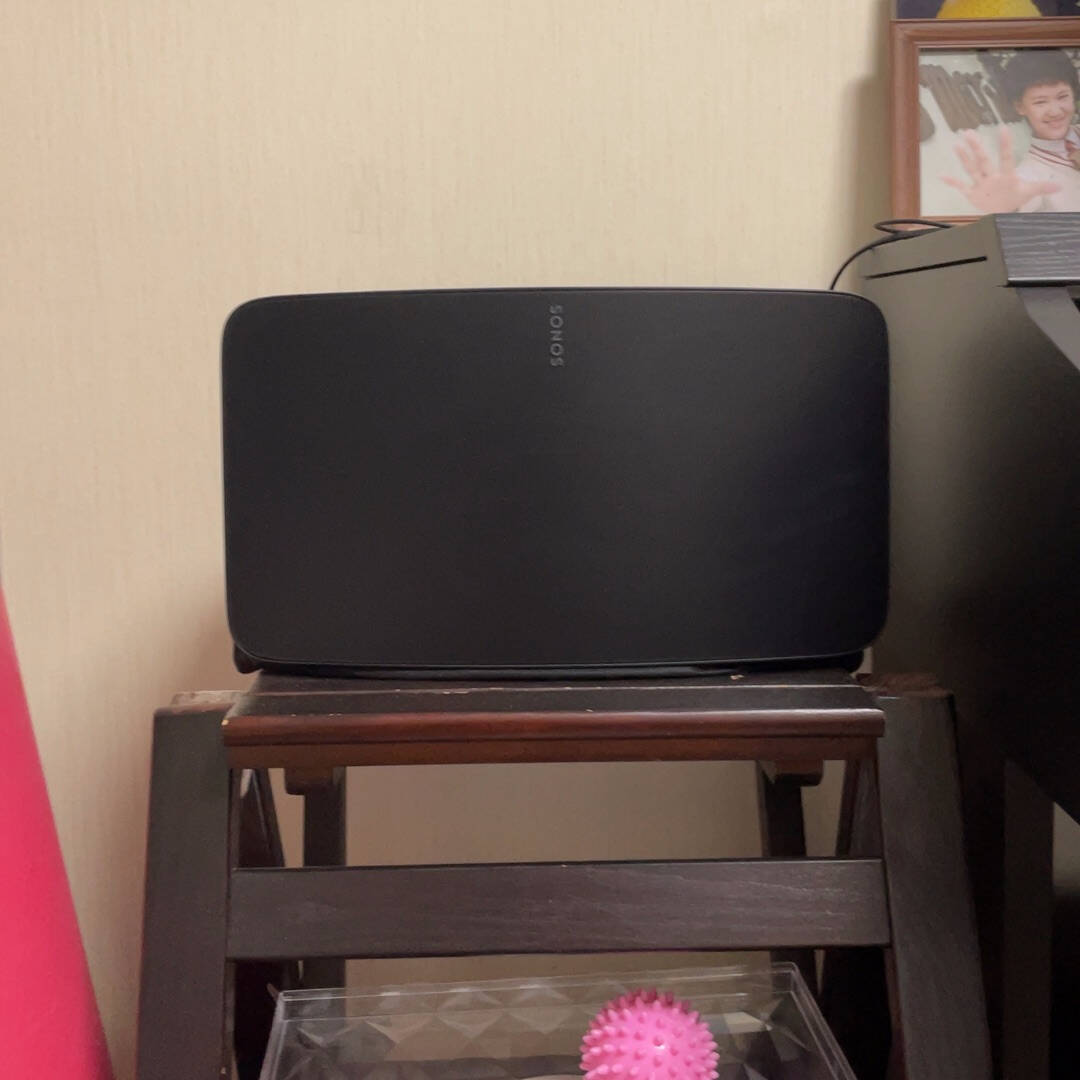 SONOSFive×2智能音响WiFi非蓝牙书架音响高保真多房间家庭影院智能音响系统电视电脑音箱家用黑色