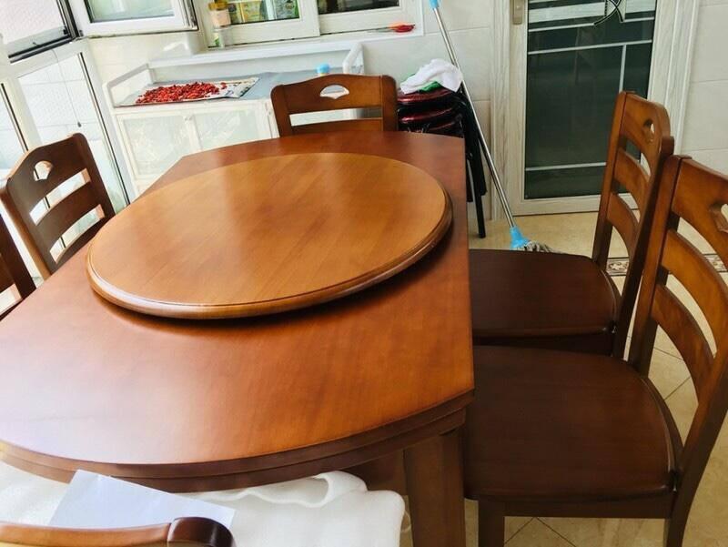 章玺实木餐桌椅组合现代简约折叠伸缩两用餐桌家用吃饭桌子小户型饭桌1.38米一桌四椅(海棠、胡桃、榉木、原木)