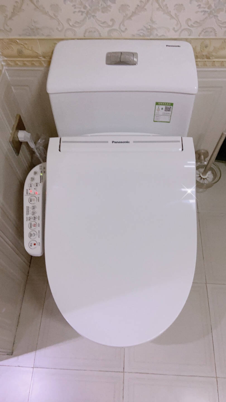 松下(panasonic)智能马桶除菌抗菌即热式日本品牌快速加热连体坐便器DL-52CWS系列套装【5230+A型陶瓷马桶】(烘干除臭)300mm坑距