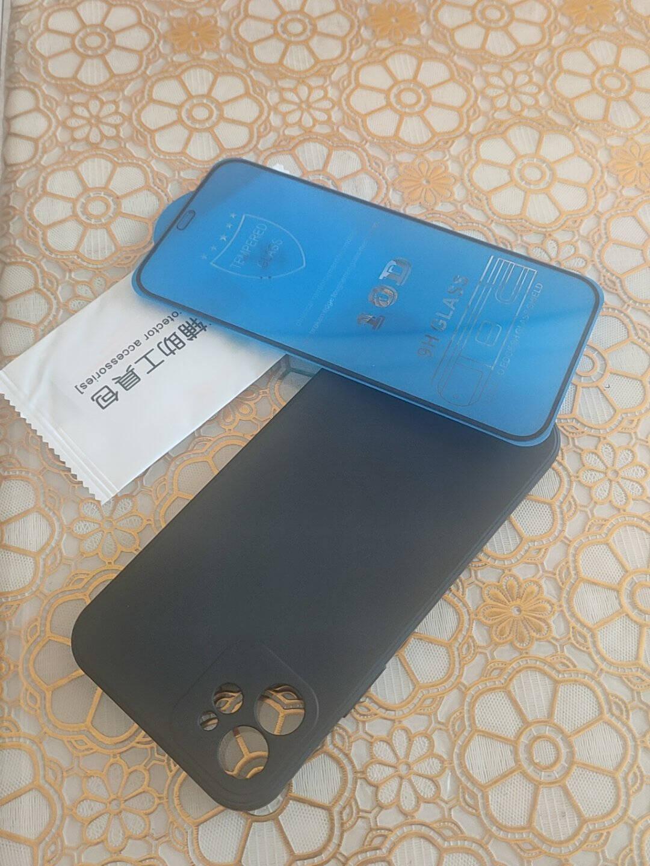 闪尚苹果12手机壳iPhone12保护套全包新升级液态硅胶防摔男女款软壳-深邃黑