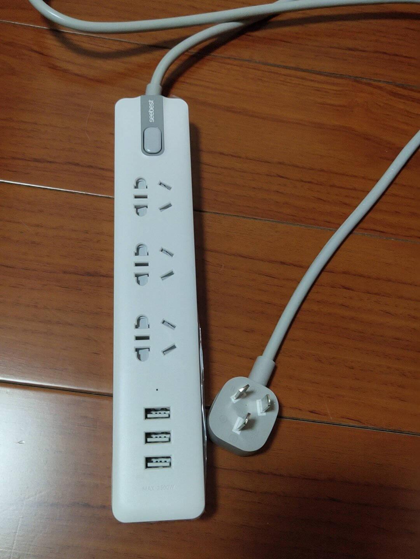 视贝插座多功能新国标/插线板/插排/排插/接线板/拖线板带3USB总控开关W305U3插座-3USB(1.6米线)
