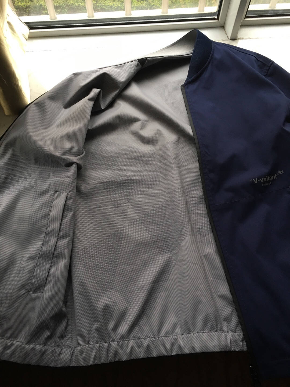 HLA海澜之家时尚双面茄克舒适简约两穿茄克男HWJAD1D336A藏青36175/92A/L