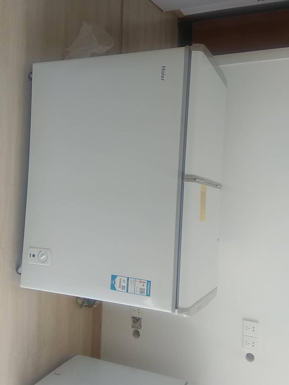 Haier/海尔冰柜215升蝶形门双箱双温区卧式冷柜家用商用二合一FCD-215SEA白色